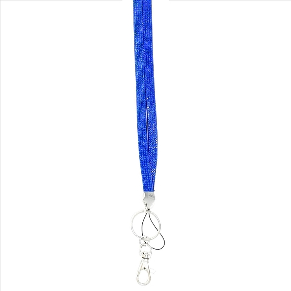 Bling Crystals on Felt Lanyard - Royal