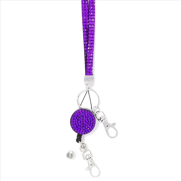 Bling Breakaway Lanyard - Purple