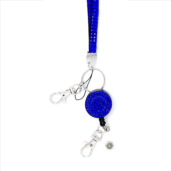 Bling Breakaway Lanyard - Royal Blue