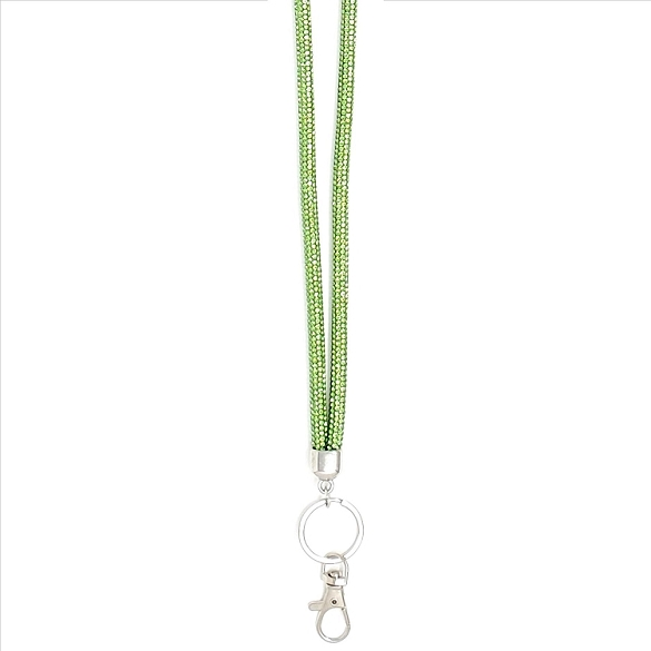 Awesome Round Crystal Lanyard - Green