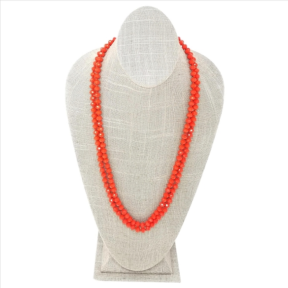 Faceted Necklace - Orange