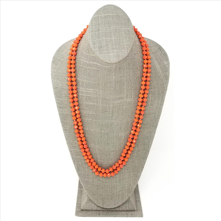 Faceted Necklace - Light Orange