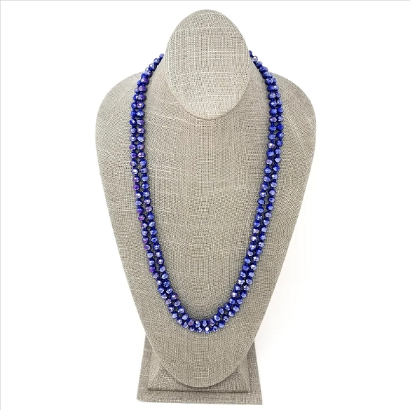 Faceted Necklace - Sapphire Sparkle