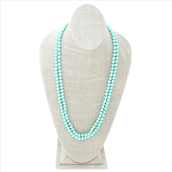 Faceted Necklace - Seafoam