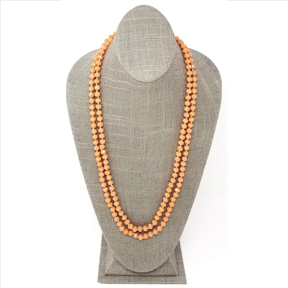 Faceted Necklace - Peach