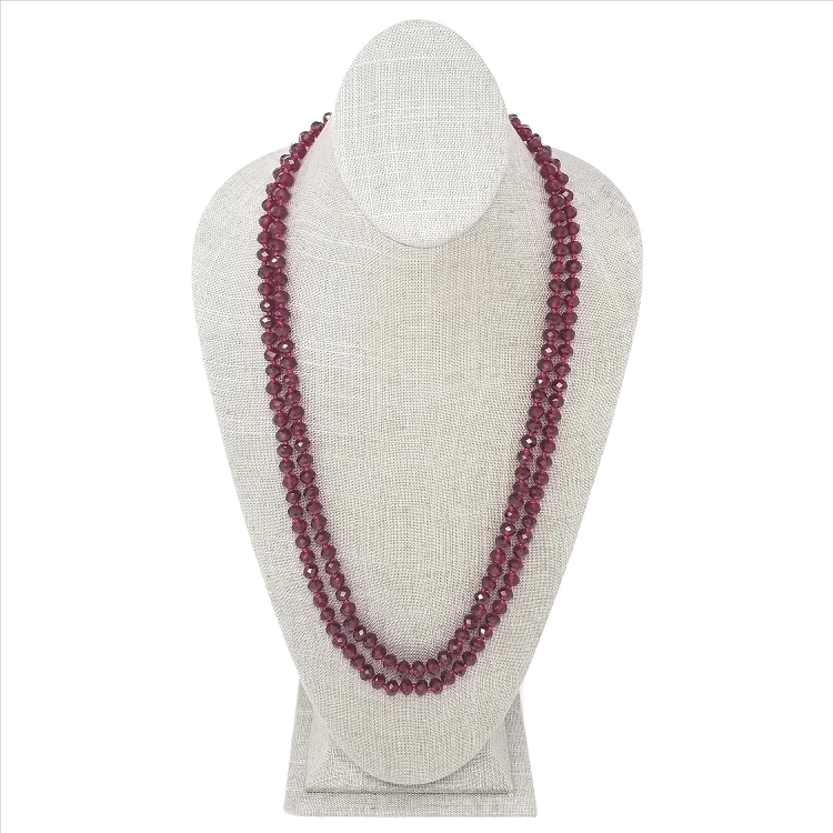 Faceted Necklace - Ruby