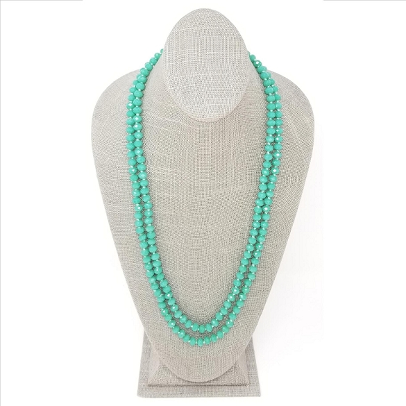 Faceted Necklace - Teal