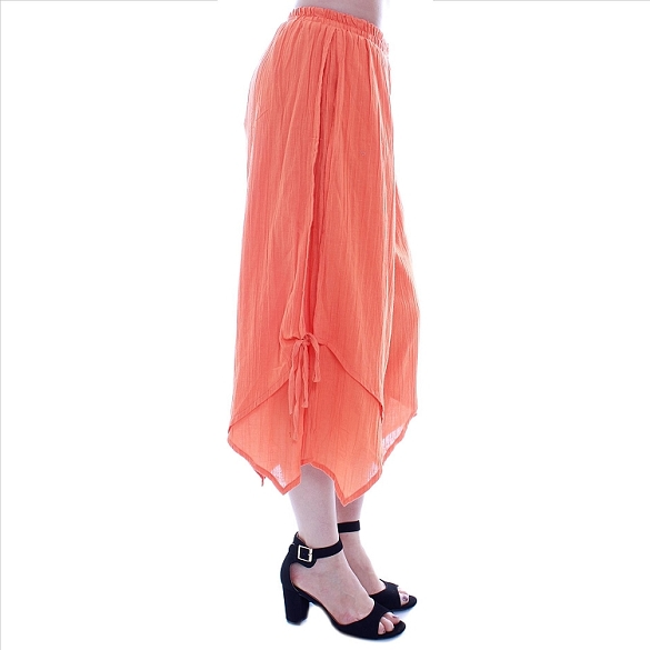 Chic Side-Tie Capris - Orange