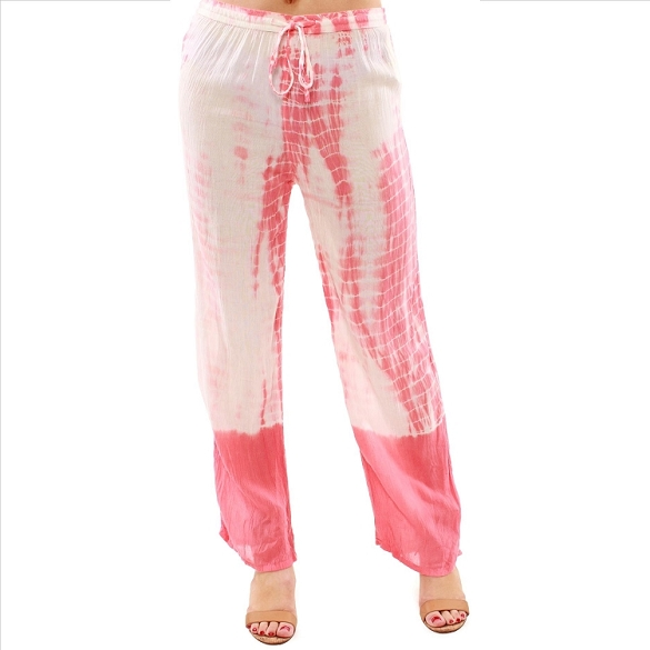Fun and Funky Tie Dye Pants - Coral