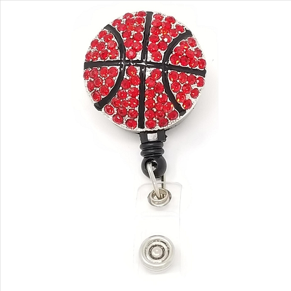 Basketball Bling Retractable Badge Reel