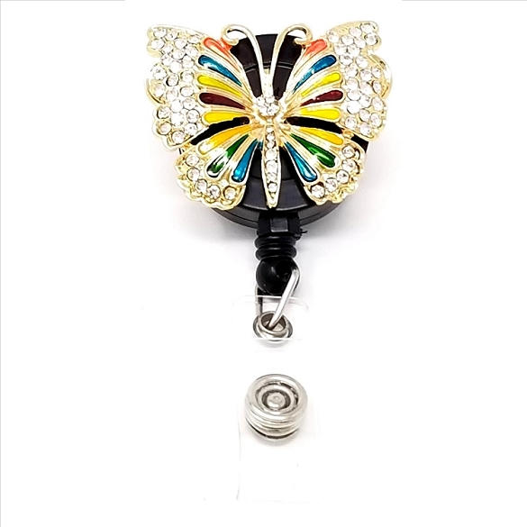 Butterfly Bling Retractable Badge Reel