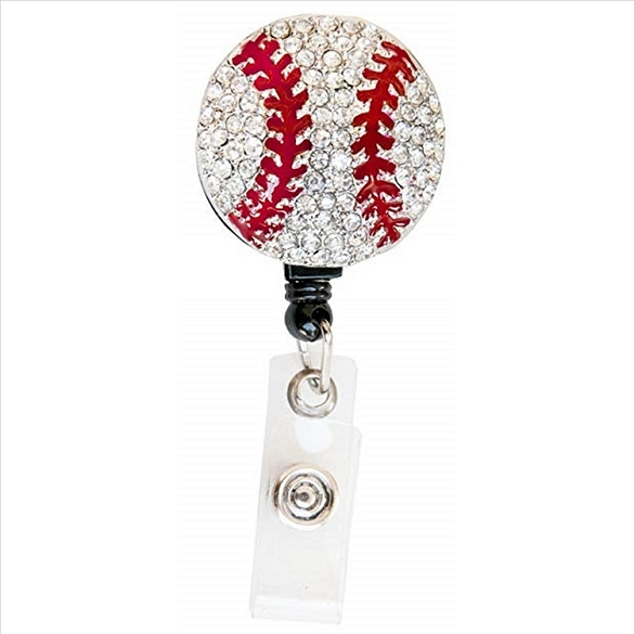Softball Bling Retractable Badge Reel