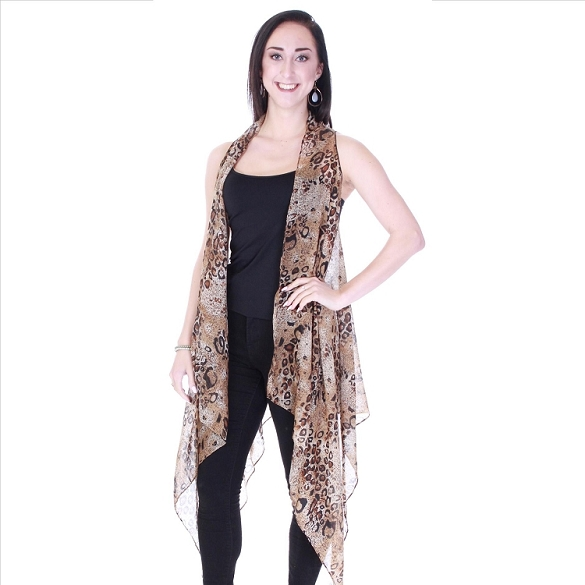 Stylish Animal Print Vest