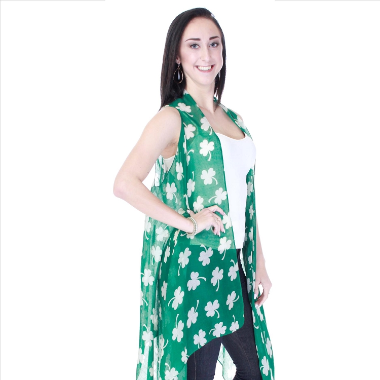 Three Leaf Clover Vest - Green