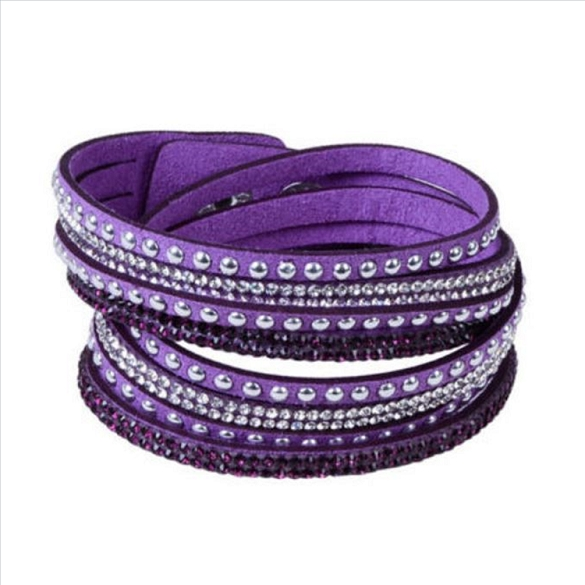 Wrap & Snap Bracelet - Purple