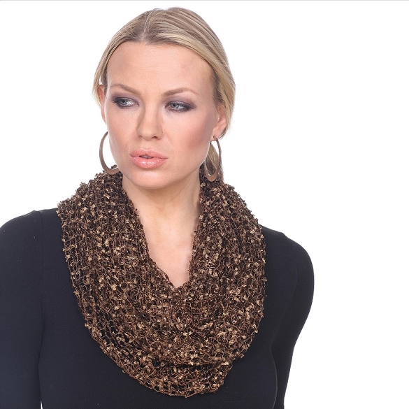 Confetti Infinity Scarf - Brown