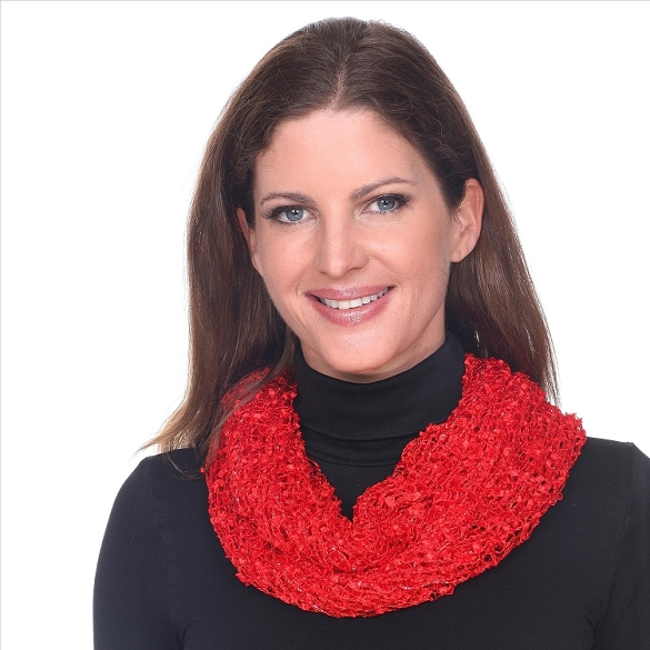Confetti Infinity Scarf - Red