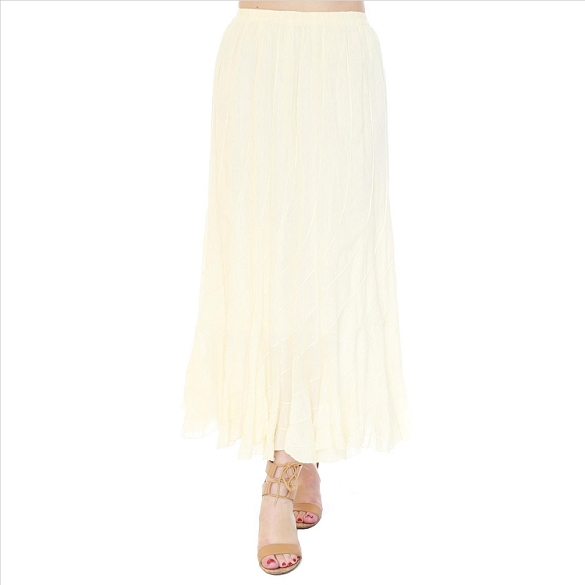 Chic Flowing Skirt - Ecru