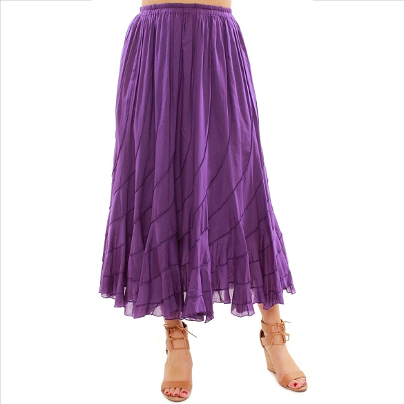 Chic Flowing Skirt - Purple