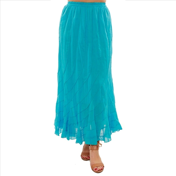 Chic Flowing Skirt - Turquoise