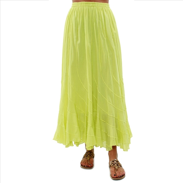 Chic Flowing Skirt - Lime