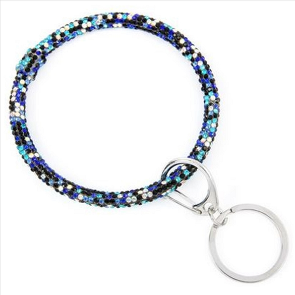 Bracelet Key Chain - Blue Sparkle