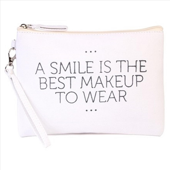 A Smile is the Best Makeup to Wear Cosmetic Bag