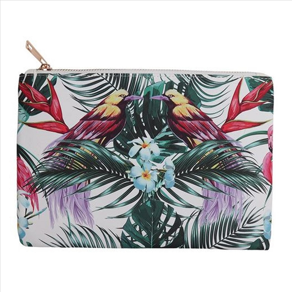 Tropical Birds Cosmetic Bag
