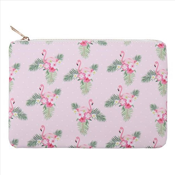 Flamingos and Flowers Cosmetic Bag