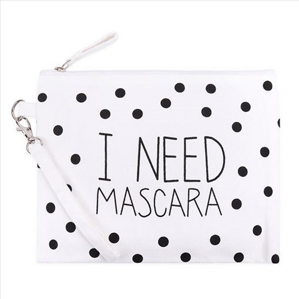 I Need Mascara Cosmetic Bag