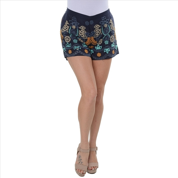 Awesome Embroidered Shorts - Navy
