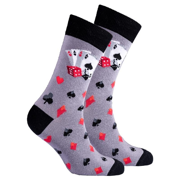 Men's Card Socks #1354