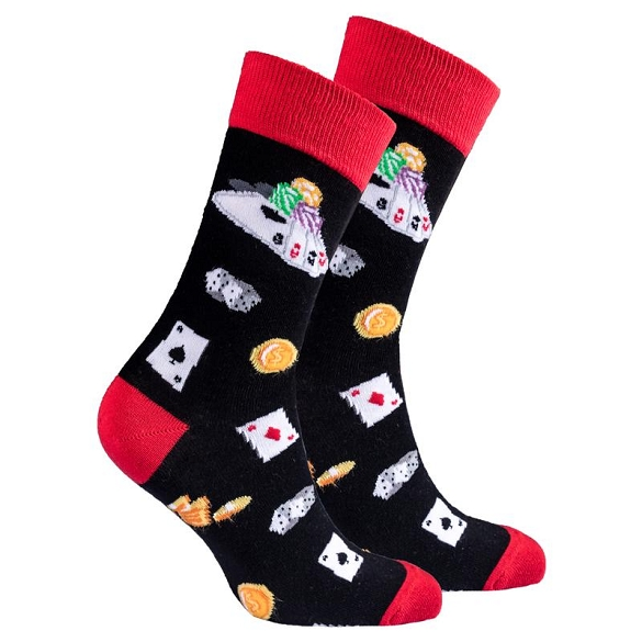 Men's Card Table Socks #1355