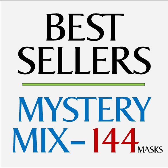 Mystery Mix Face Masks -144 Pack