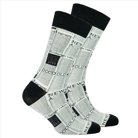 Men's Newspaper Socks #1468