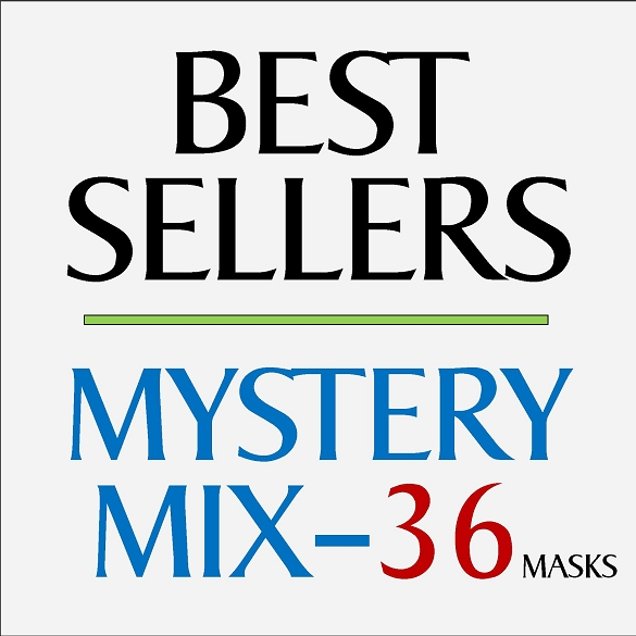 Mystery Mix Face Masks - 36 Pack