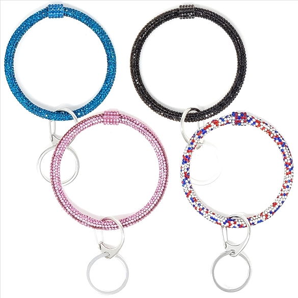 4 Pack Assorted Bracelet Key Chain #1