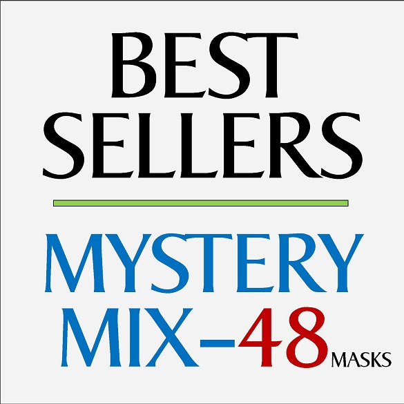 Mystery Mix Face Masks - 48 Pack