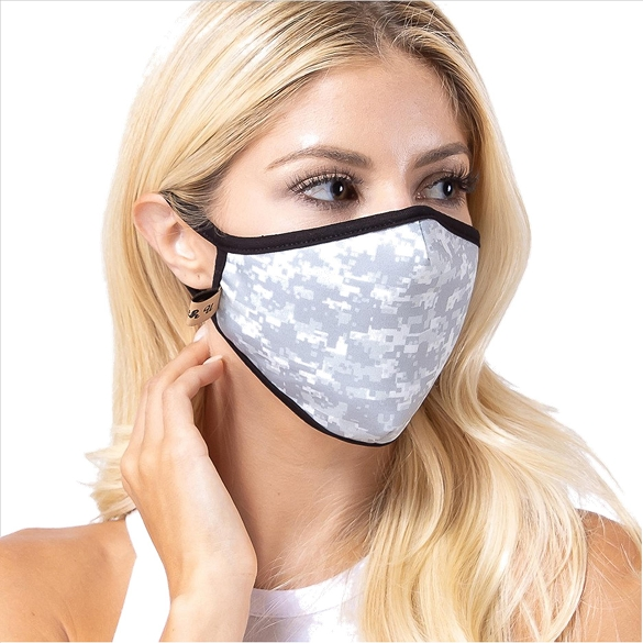 Digital Camouflage Print Face Mask