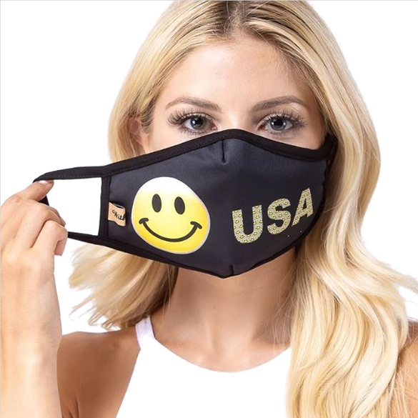 USA Happy Face Mask - 3 Pack