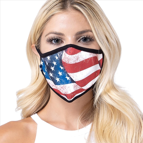 American Flag Print Face Mask - 3 Pack