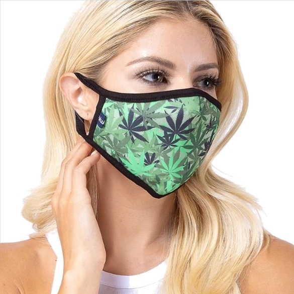 Weed Print Face Mask - 6 Pack