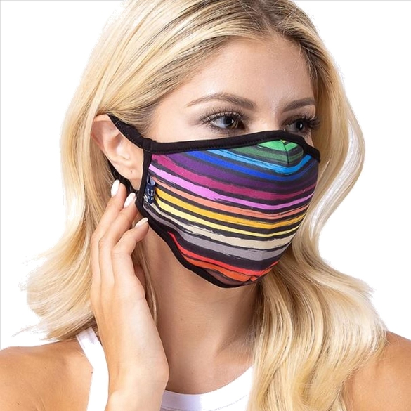 Multi-Color Lines Face Mask