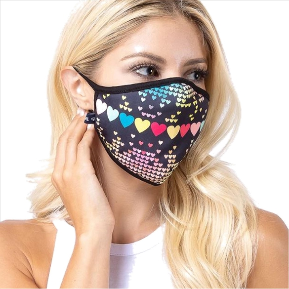 Hearts Galore Face Mask - 6 Pack