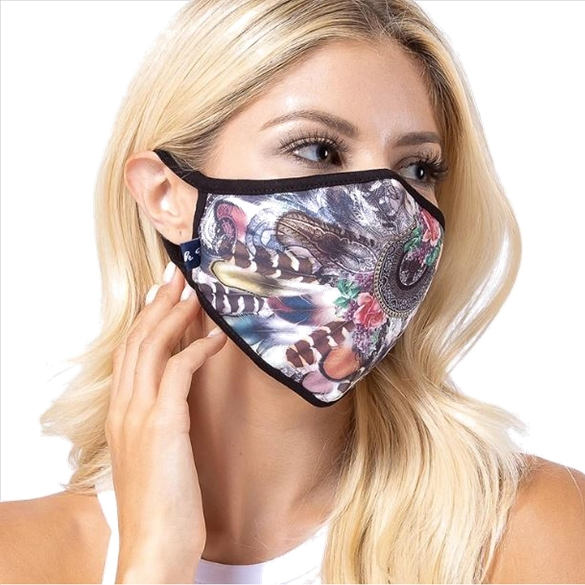 Point in Chaos Print Face Mask - 9 Pack
