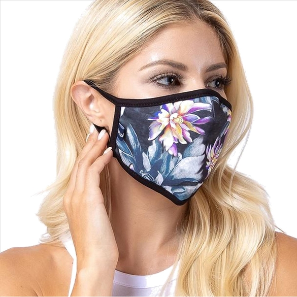 Poison Flower Print Face Mask - 6 Pack