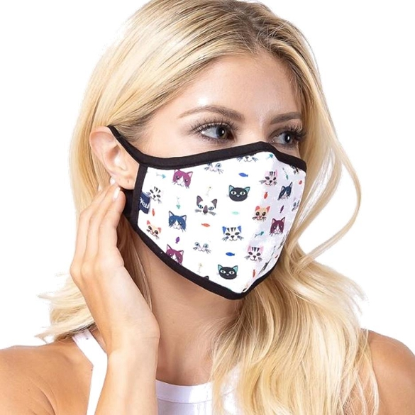 Kitty Cats Print Face Mask - 9 Pack