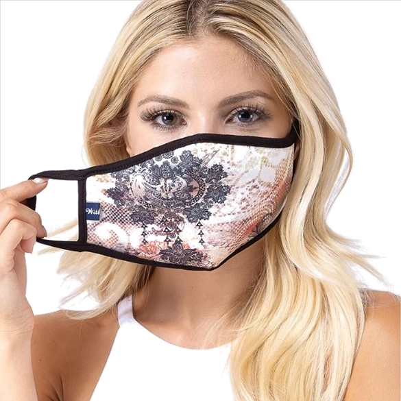 Multi Damask Print Face Mask - 5 Pack