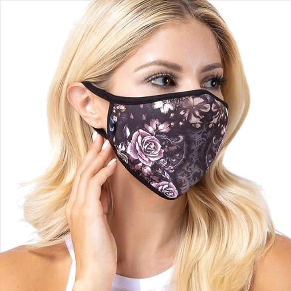 Chintz in Dark Print Face Mask