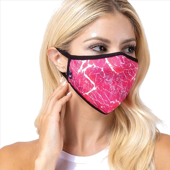 Raw Beef Print Face Mask